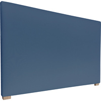 York Queen Size Fabric Headboard in Denim Blue