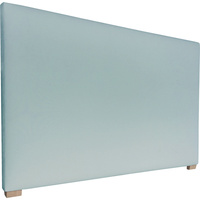 York King Size Fabric Upholstered Headboard in Aqua