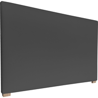 York Queen Size Fabric Upholstered Headboard Ebony