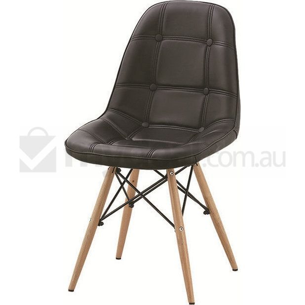 2x Replica Eames DSW PU Leather Dining Chairs Black Buy  : D2UF CHA0010 BLK03 from www.mydeal.com.au size 618 x 618 jpeg 31kB