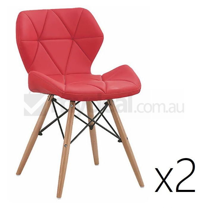 2x Modena Eames Inspired PU Dining Chairs in Red Buy  : D2UF CHA0008 RED01 from www.mydeal.com.au size 700 x 700 jpeg 48kB