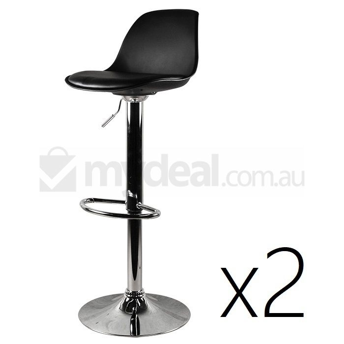 2x Eames Inspired PU Leather Bar Stool in Black Buy Sets  : D2UF STL0004 BLK01 from www.mydeal.com.au size 700 x 700 jpeg 27kB