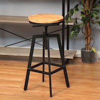 Nyx Metal Modern Industrial Bar Stool in Black
