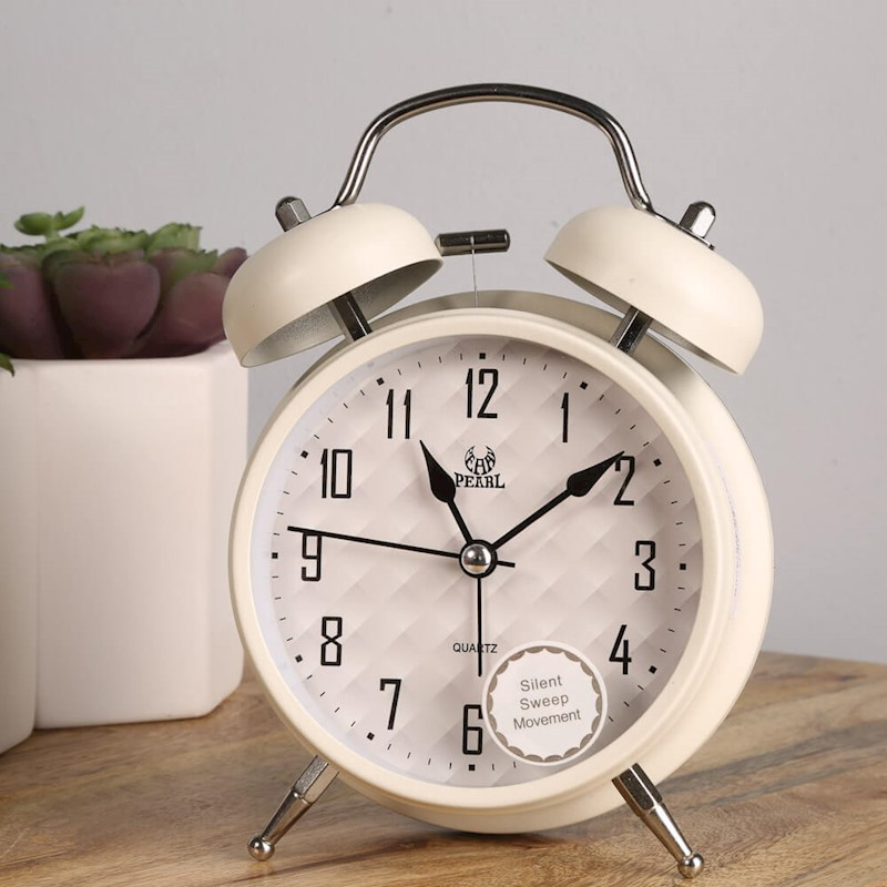 9eac2afc9c9 Pearl 256 Double Bell Silent Alarm Clock