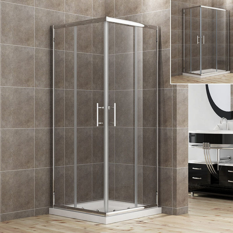 Sliding Corner Shower Screen Enclosure 900x900mm | Buy Shower ...