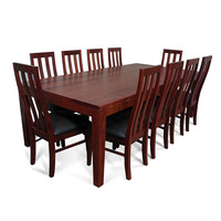 Hamilton Wooden Dining Table Set w/ 10 Chairs 2.4m