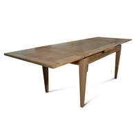 Barossa Oak Wooden Extension Dining Table 1.5-2.6m