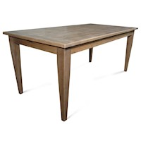 Barossa Rectangle Solid Oak Wood Dining Table 1.8m