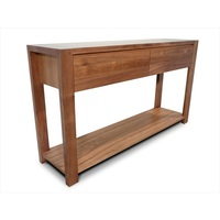 Lumino Blackwood 2 Drawer Console Hall Table 1.4m