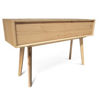 Felix Scandinavian Oak Veneer Hall Table 1.3m