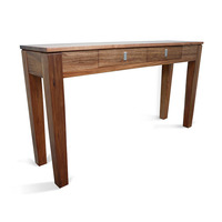 Hamilton Blackwood 2 Drawer Wooden Hall Table 1.4m