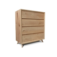 Felix Scandinavian Oak Tallboy Chest of Drawers