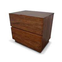 Manhattan Blackwood 2 Drawer Timber Bedside Table