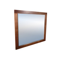 Manhattan Blackwood Rectangle Wall Mirror 105x90cm