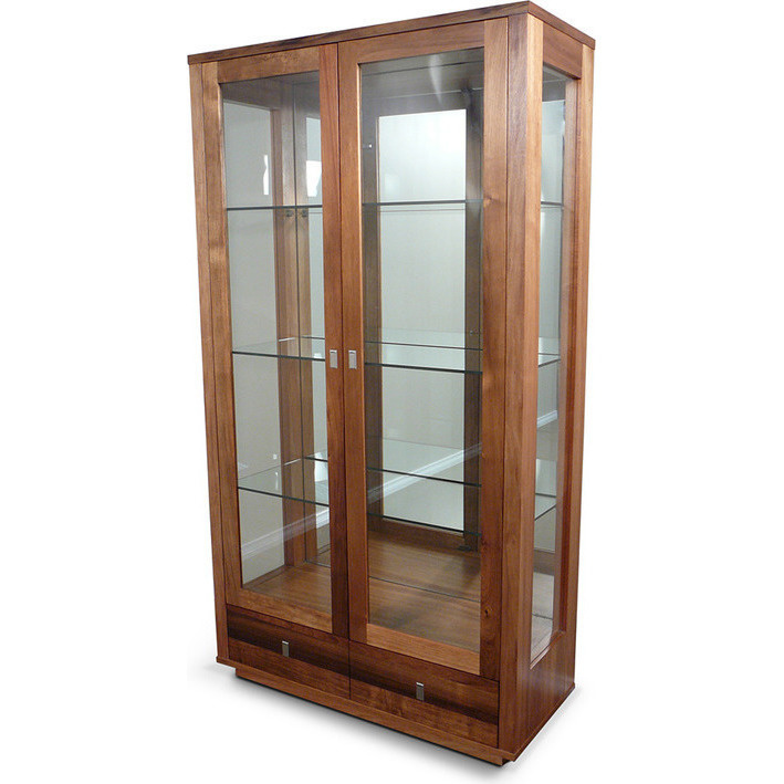 glass display cabinet hamilton blackwood timber amp glass display cabinet buy 15831