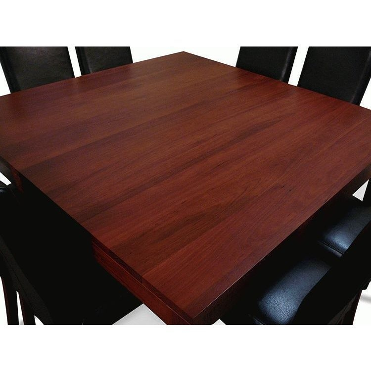 8 Chair Square Dining Table: Jarrah Square Dining Table Set W 8 Chair Black 1.5m