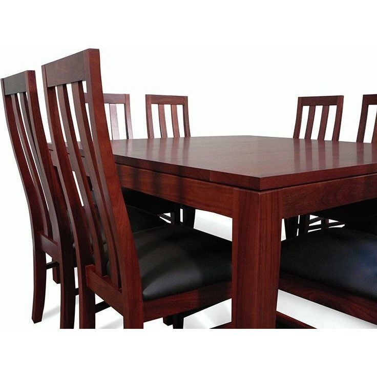 8 Chair Square Dining Table: Square Wooden Dining Table Set W/ 8 Chairs 1.5m