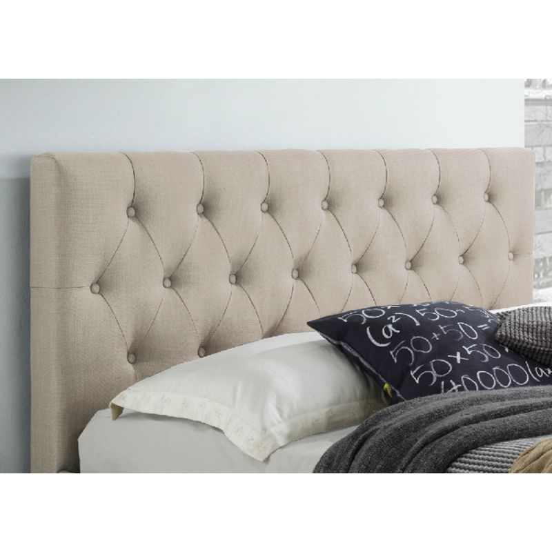 polo queen fabric upholstered bed head in beige buy