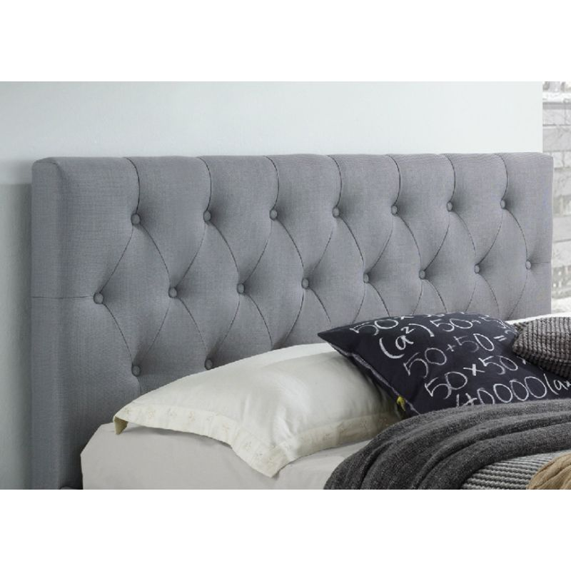 Polo Queen Fabric Upholstered Bed Head Light Grey Buy