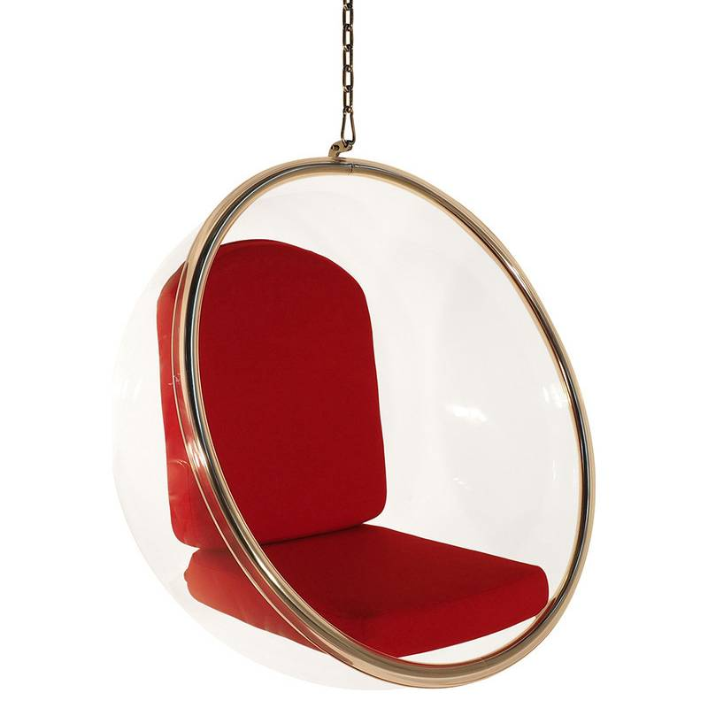 Replica eero aarnio hanging bubble chair in red buy furniture - Bubble chair replica ...