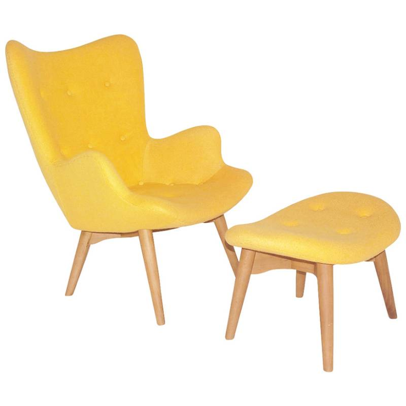 Replica Grant Featherston Chair W Ash Legs Yellow Buy