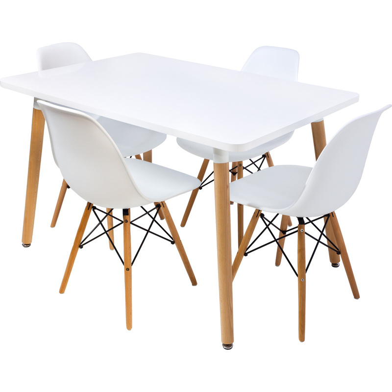 Replica cellini dining table w 4 eames chairs 120cm buy for 120cm dining table with 4 chairs