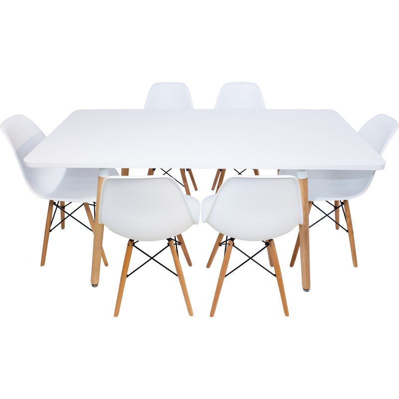Cellini Dining Table Replica Cellini Walnut Dining Table  : Combo20 20Halo20dining20table20160cm20and20620x20Eames20Dining20chairs01 from chipoosh.com size 800 x 800 jpeg 90kB