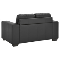 2 Seater PU Leather Sofa Couch in Black 1.3m