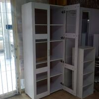 Modern Tall Kitchen Hutch Cabinet Cupboard in White
