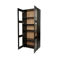 Laminate Kitchen Hutch Cabinet Cupboard Black 192cm