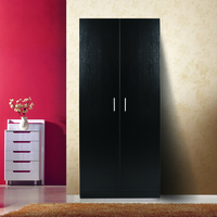 Modern 5 Shelf Kitchen Hutch Cabinet Cupboard Black