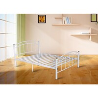Cleveland Double Size Iron Bed Frame in White