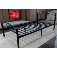 Cleveland King Single Size Iron Bed Frame in Black