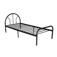 Chippen Single Size Iron Bed Frame in Black