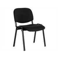 Harris Contemporary Stacking Visitor Chair in Black