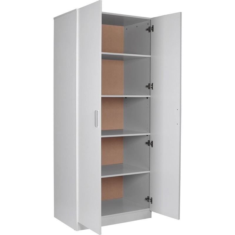 Laminate Kitchen Hutch Cabinet Cupboard White 192cm