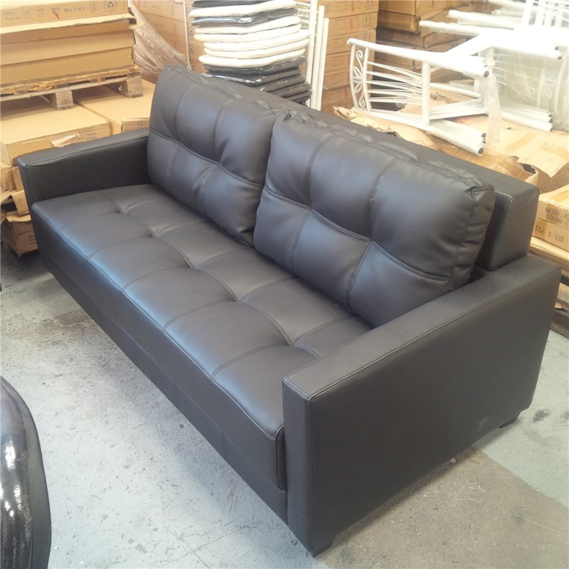Leather Sofa Discount: Priceworth 3 Seater PU Leather Sofa