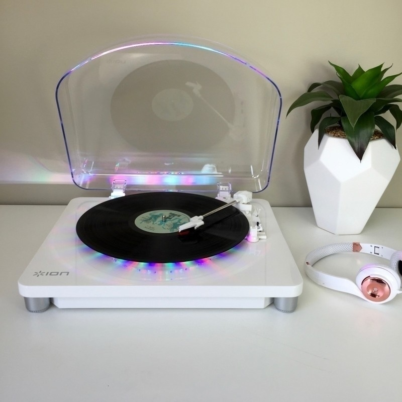 Ion Max Photon Lp Led Record Player Turntable White Buy