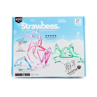 400pc Strawbees Inventor Creative Construction Kit