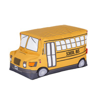 Woouf School Bus Kids Bean Bag with Removable Cover