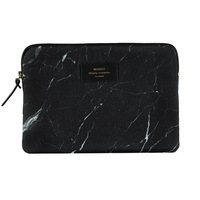 Marble iPad Air Sleeve w/ Foam Protection in Black