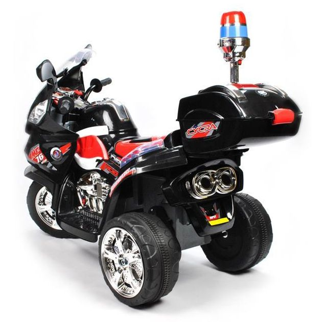 Kids Electric Ride On Police Motorcycle in Black 6V | Buy ...