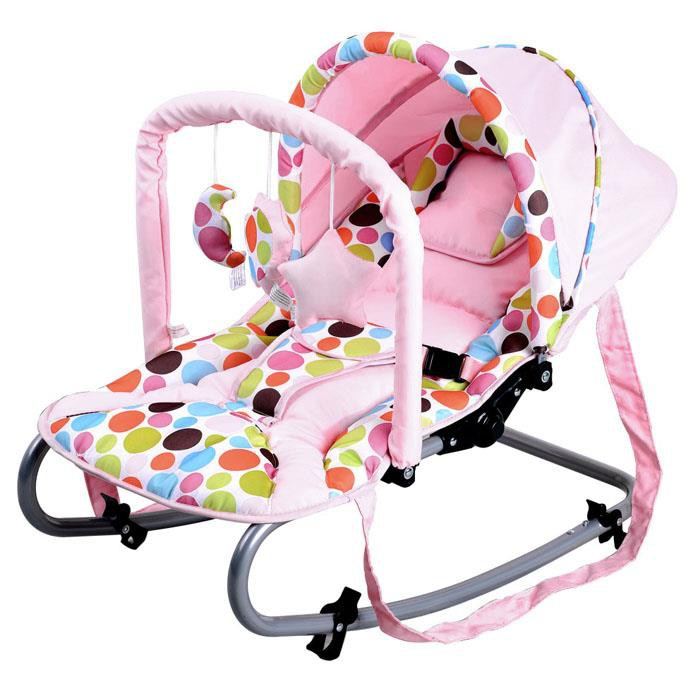 Harmony New Born Baby Rocker With Canopy In Pink Buy