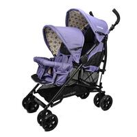 Vitesse Tandem Double Baby Pram Stroller in Purple
