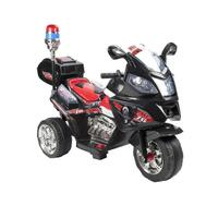 Kids Electric Ride On Police Motorcycle in Black 6V