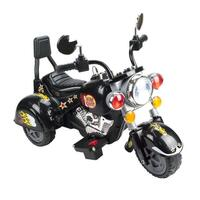 Kids Electric Ride On Motorcycle Trike in Black