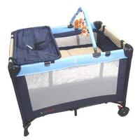 3 in 1 Baby Travel Cot  Bassinet or Changer in Blue