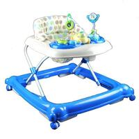 Adjustable Baby Walker with Activity Centre in Blue