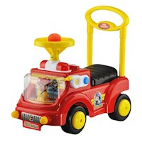Kids Push and Pull Fire Engine Ride On Car in Red