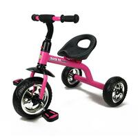Grow With Me Kids Tricycle with Wide Wheels in Pink